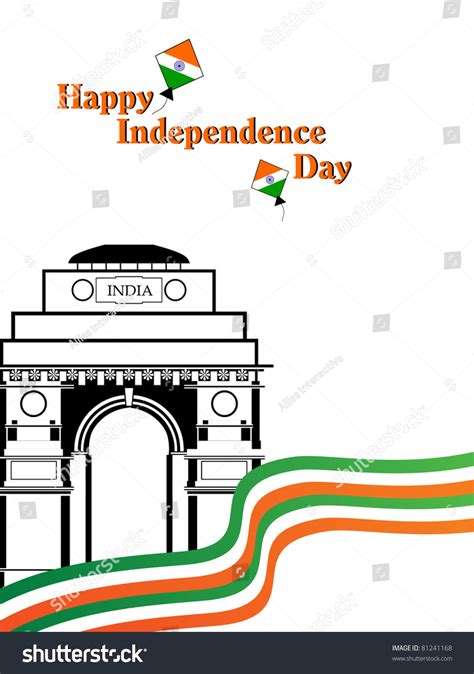 coloring pages of india gate flag color stripes background with india gate kites stock