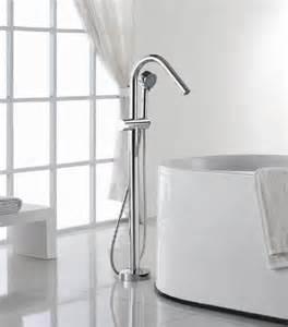 robinet sur pied pour baignoire ilot