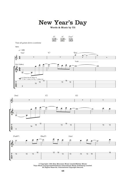 new year sales chords new year s day by u2 guitar tab guitar instructor