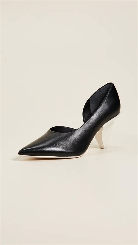 Point Toe Pumps lyst sigerson morrison garson point toe pumps in black