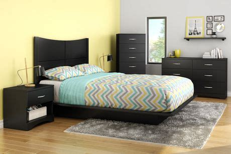 south shore soho bedroom set south shore soho collection queen platform bed walmart