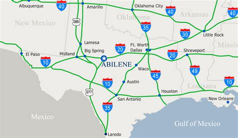 map of texas abilene map of abilene tx my
