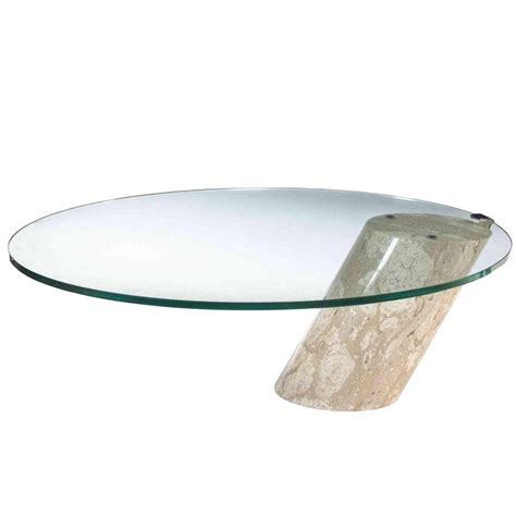 brueton style glass and marble coffee table for sale at