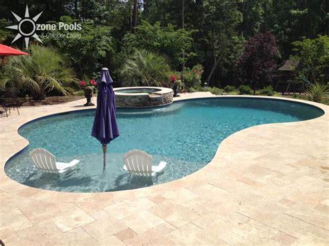 freeform pools freeform pool spa travertine decking pool outdoor