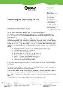 Muster Handout Handout Kriterien F 252 R Vogelfreundliche Muster