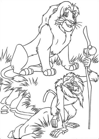 lion king rafiki coloring pages musafa and rafiki coloring page super coloring