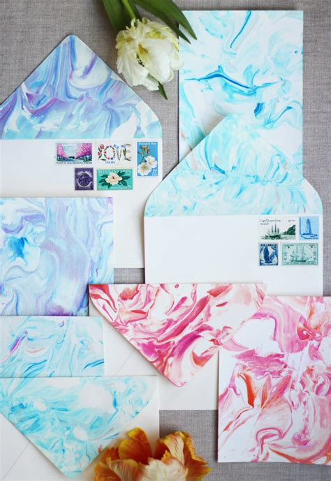 How To Make Marbled Paper - 13 diy thank you cards to get ahead of the gifting