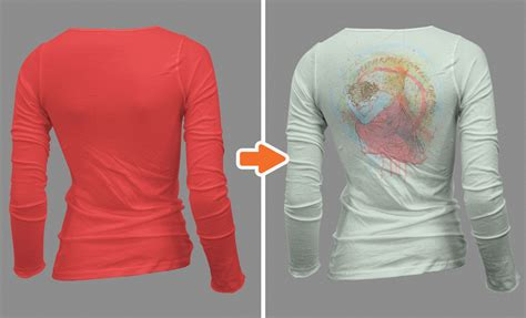 tutorial how to make a realistic t shirt template in photoshop