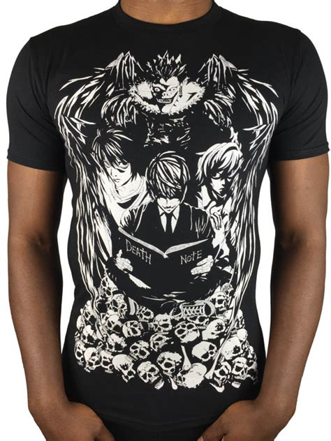 Tshirt Deat Note Europen note t shirt light yagami t shirt shinigami ryuk light
