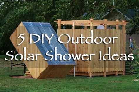 Solar Shower Diy by 5 Diy Outdoor Solar Shower Ideas Grid World