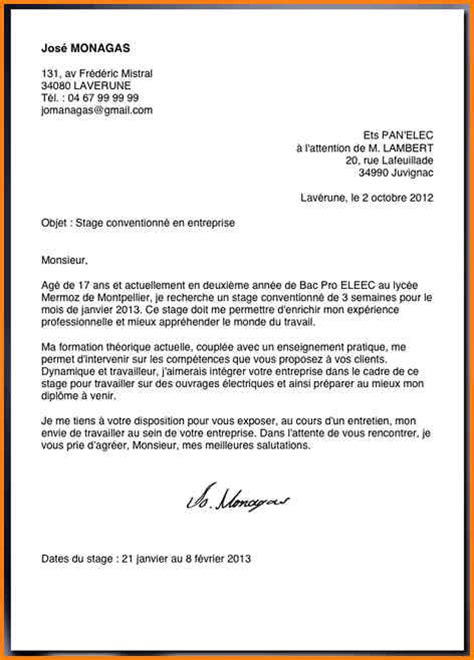 Exemple Lettre De Motivation ã Tudiant 12 Exemple De Lettre De Motivation Stage Format Lettre