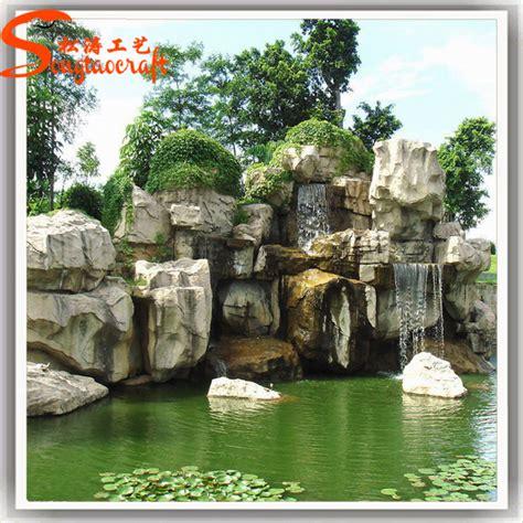 rock waterfalls for gardens cheap fiber glass rock waterfall garden landscape
