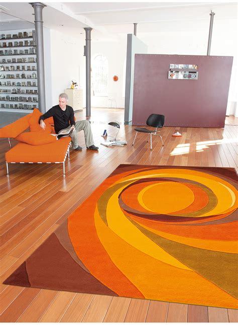 tapis salon tapis de salon moderne set highlights orange de la