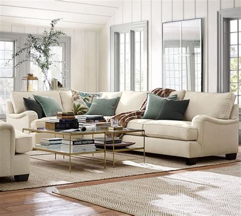 pb comfort sectional pb comfort english arm sectional components slipcovers