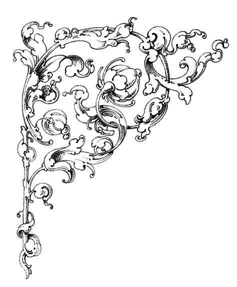 Fairy Garden Art - dreamy romantic scrolls wedding clip art the graphics fairy