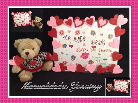 imagenes de amor y amistad en foami carta en portarretrato adornado para el dia del amor y la