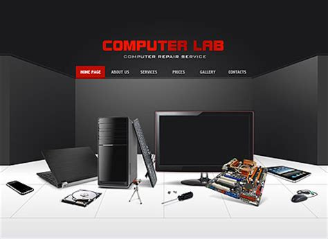 Computer Repair Flash Website Template Best Website Templates Computer Repair Template