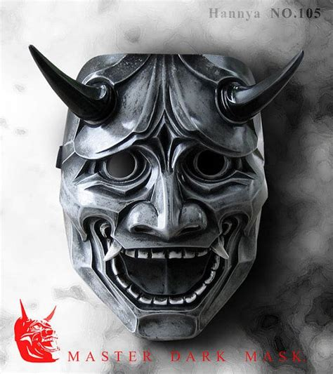 green hannya mask tattoo hannya mask 105 grey japanese noh style fiberglass by