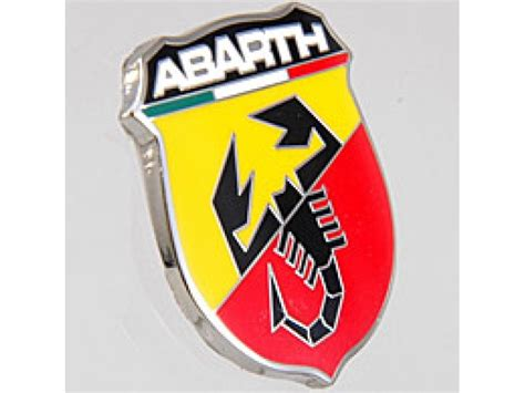 abarth emblem crest metal large fiat 500 parts and