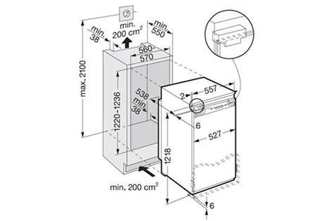 dimension congelateur armoire dimension meuble frigo encastrable
