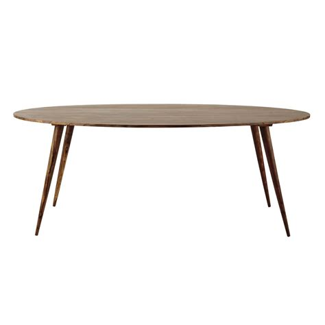 solid sheesham wood oval dining table w 200cm andersen