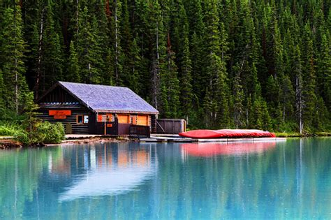 Cabin By Lake by Cabin On Lake Louise Flickr Photo