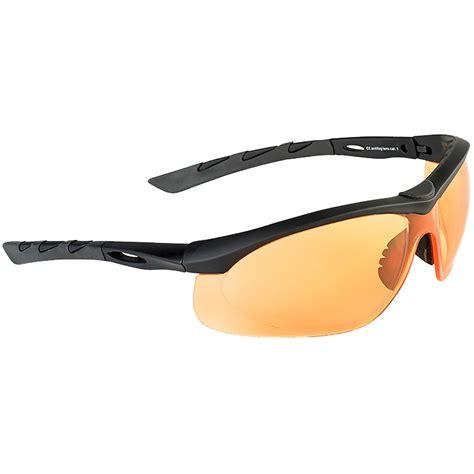 orange glasses swiss eye lancer sunglasses orange lens black rubber
