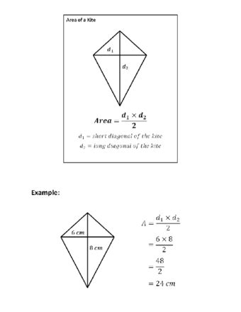 diagram of kite how to find the area of a quadrilateral with sheets