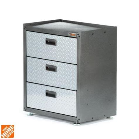 28 in w x 31 in h x 18 in d freestanding 3 drawer steel