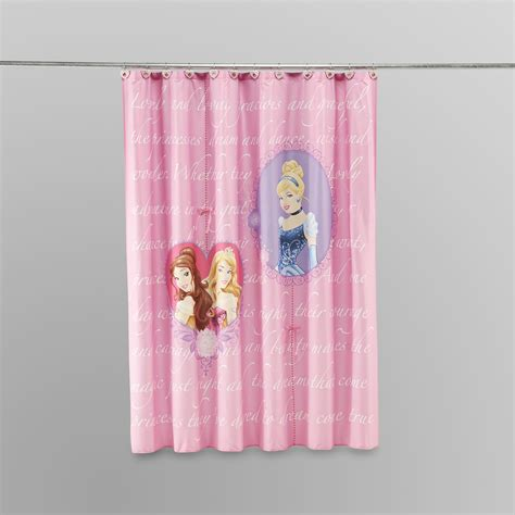 princess shower curtains disney microfiber shower curtain