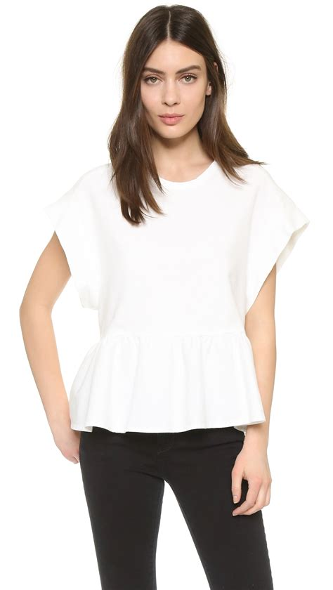 latest blouse and iro hairstylegalleriescom iro and blouse pics iro boyka blouse in white lyst