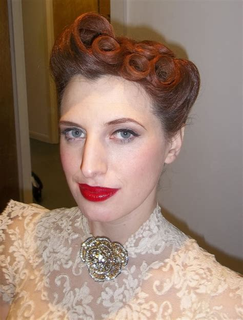 40s hairstyles pin curls 17 best images about 1930 s hairstyles makeup on pinterest