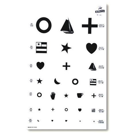free printable eye exam chart kindergarten eye test chart sccsd pinterest