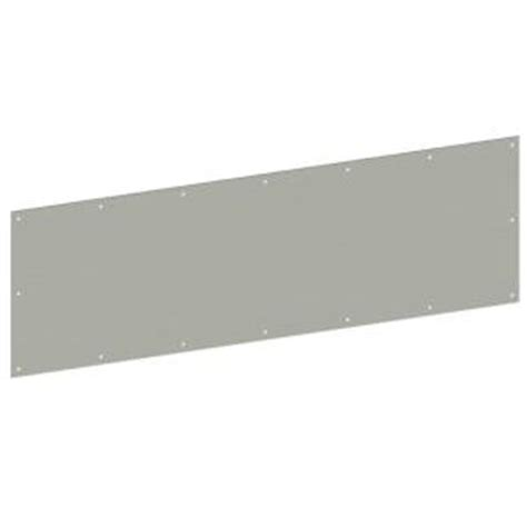Stainless Steel Plate Home Depot by Hager 12 In X 34 In Stainless Steel Kick Plate For