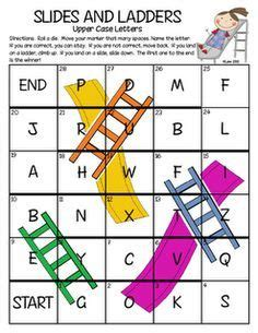 printable alphabet board games quot slides and ladders quot letter naming game variation on