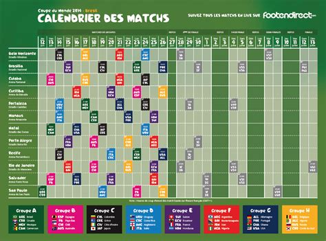 Calendrier Coupe Du Monde 2014 Calendrier Coupe Du Monde Foot 2014 Pdf T 233 L 233 Charger