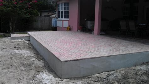 Thin Patio Pavers with New Patio Extension Overlay Thin Pavers Temple Terrace Fl Suncoast Brick Pavers