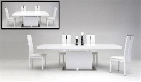 white dining room table extendable zenith modern white extendable dining table