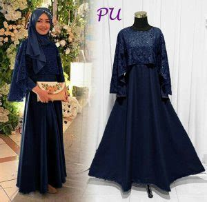 Baju Dress Wanita Marbella Maxi Balotelly Navy baju muslim modern brokat model busana pesta remaja