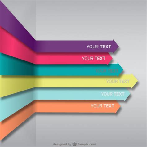 free download layout vector colorful arrows background vector free download