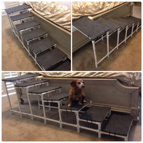 bed steps for dogs pvc dog steps for your bed made with outdoor carpet wood