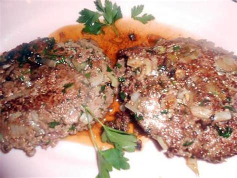 recette de steak hach 233 aux oignons nouveaux