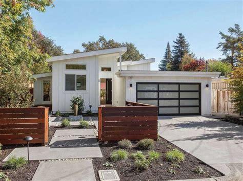 small mid century modern homes midcentury modern in sonoma has lush backyard open floor