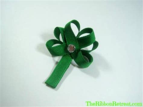 ribbon shamrock instructions easter ribbon sculpture