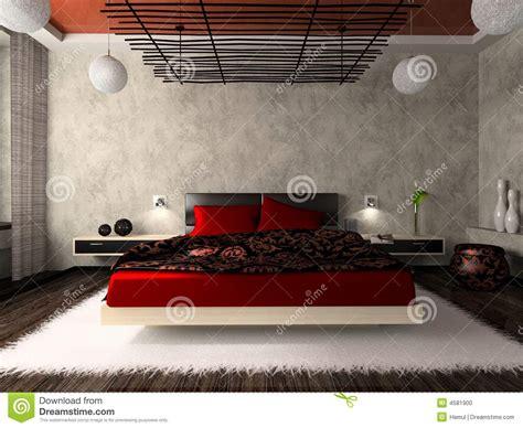 da letto lussuosa da letto lussuosa nel colore rosso illustrazione di