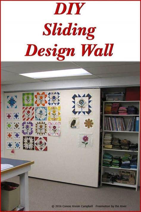 diy sliding quilt design wall freemotion   river