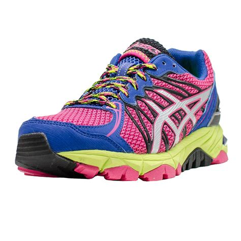 cushioned running shoes asics gel fujitrabuco 3 neutral womens pink purple
