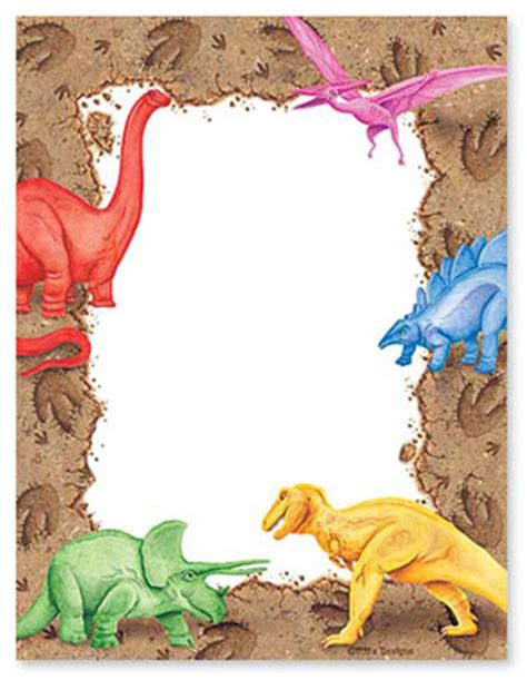 lined paper with dinosaur border dino paper border dino party pinterest birthdays