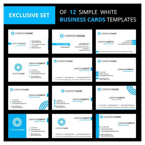 editing business card template in pages white and blue business cards templates vector free