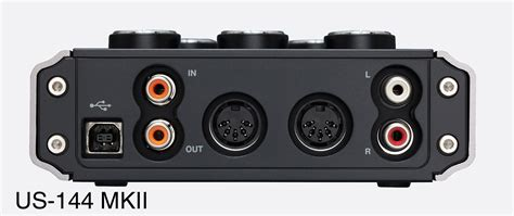 tascam us 144mkii usb audio interface 2x mic line in s